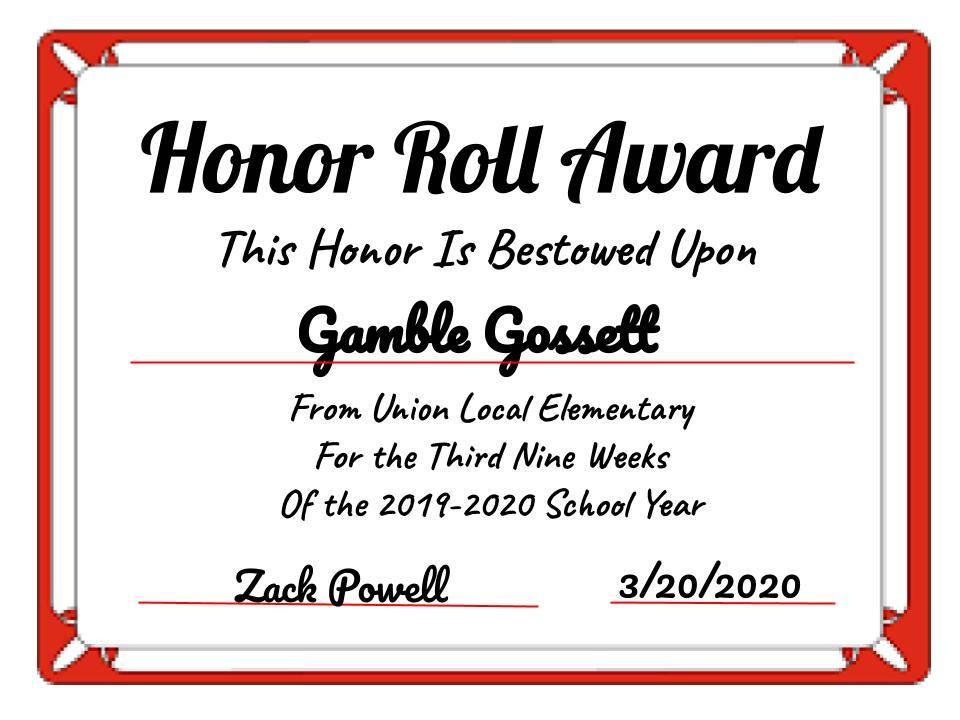 Gamble Gossett