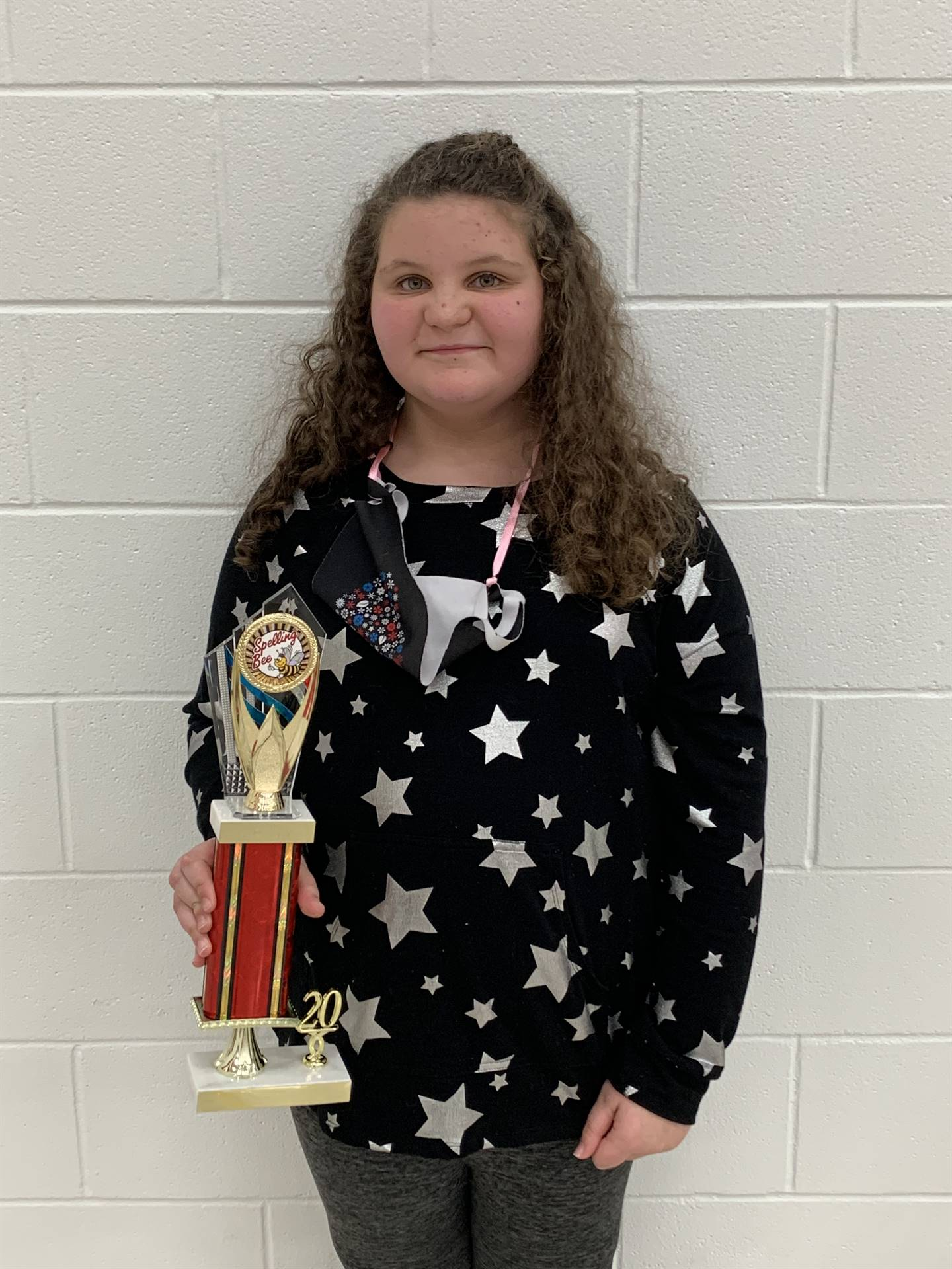 Second place is 4th grader Hannah McCracken