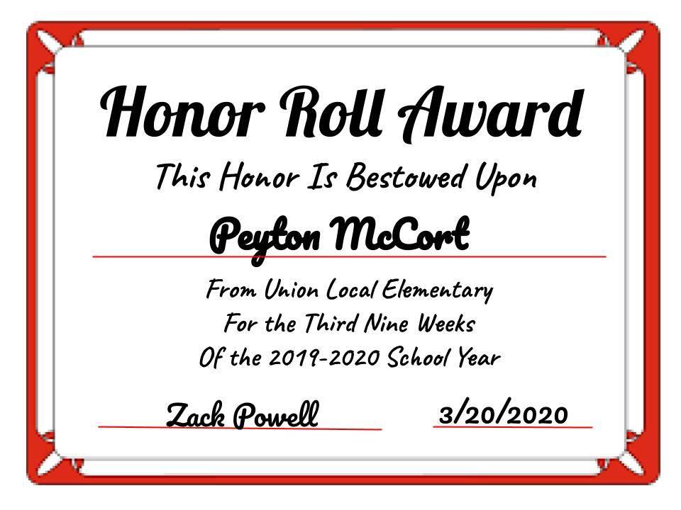 Peyton McCort