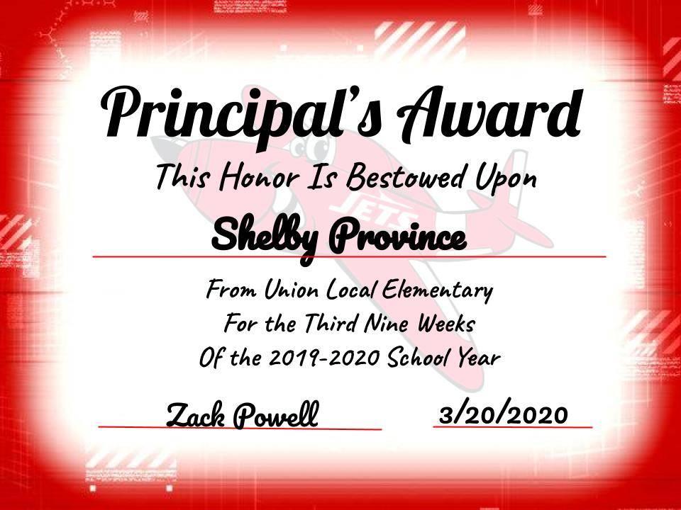 Province, Shelby