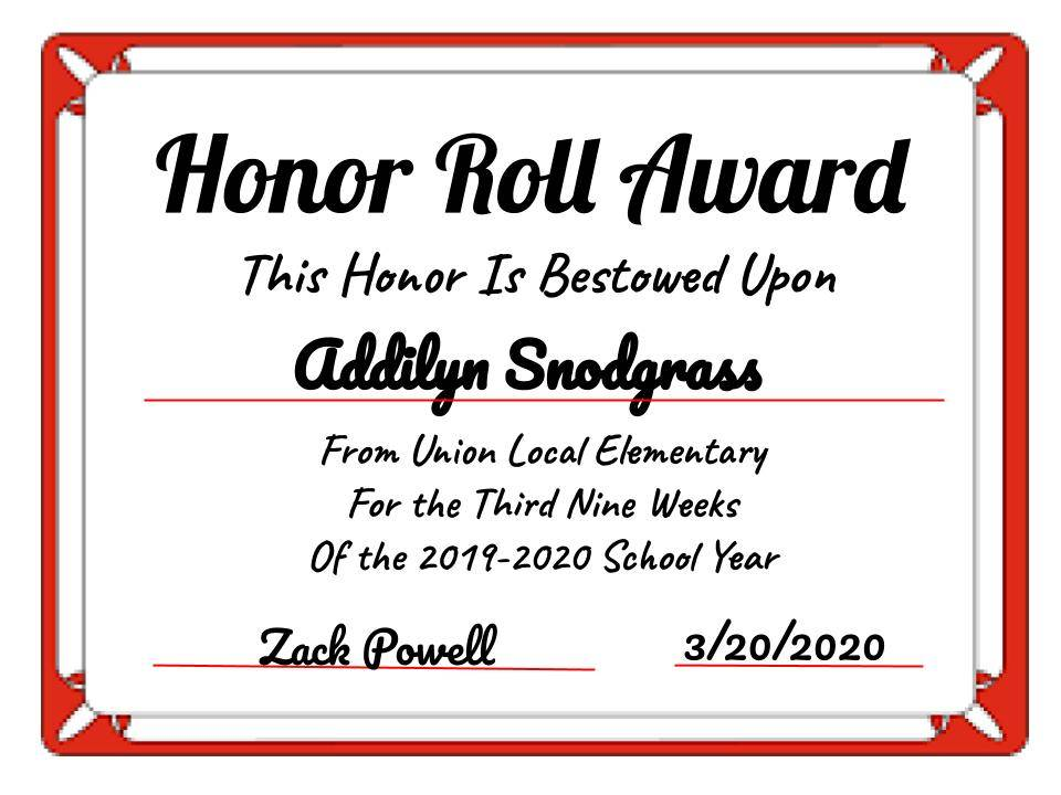 Addilyn Snodgrass